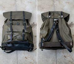 Vintage Swiss Military Backpack