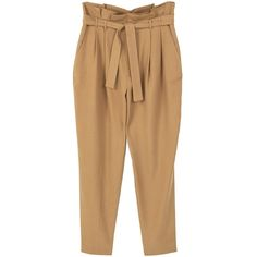 MANGO Soft cord trousers ($70) ❤ liked on Polyvore featuring pants, beige pants, straight pants, mango trousers, cord trousers and mango pants