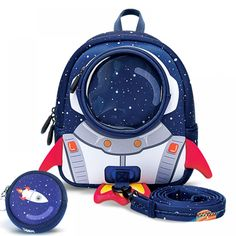 Rockets Anti-lost School Bags For Girls Cartoon high-grade Toy Boys Backpack Kindergarten Bags Children Toddler Backpack, Mini Backpack, Backpack Bags, Travel Backpack, Boys Backpacks, School Backpacks, Kids Girls, Baby Kids, Baby Boy