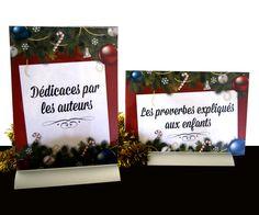 #Affichettes réalisées par la #graphiste Julie Saba pour le stand des marchés de Noël des Editions LDV