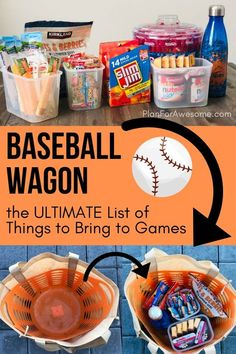 Baseball Mom Wagon: The Ultimate List of Things to Bring on Game Day - I'm officially a softball mom - Girls Baseball Snacks, Travel Baseball, Baseball Tips, Baseball Party, Baseball Season, Baseball Stuff, Baseball Cleats, Kids Baseball Games, Baseball Mom Quotes