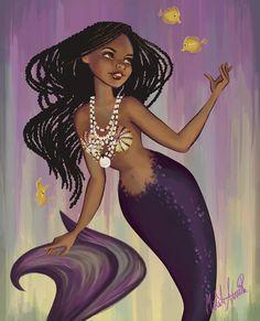 Purple mermaid pearls