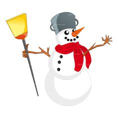 CLIPART HAPPY SNOWMAN | Royalty free vector design