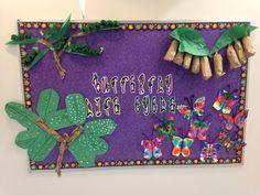 Butterfly life cycle bulletin board Science Area Preschool, Preschool Boards, Preschool Themes, Science Fair, Preschool Activities, Preschool Classroom, Classroom Ideas, Butterfly Bulletin Board, Summer Bulletin Boards