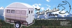Teal Tail Feather Camper | Vogel Talks RVing Modular camper, breaks down to store, fits on trailer.