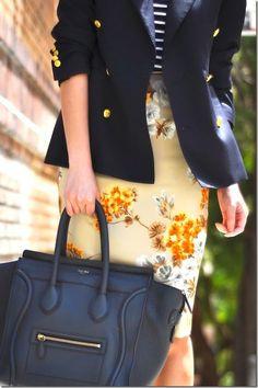 navy + florals