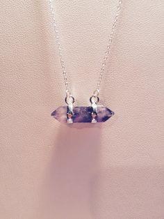 Amethyst Quartz Crystal Necklace by SomethingByJo on Etsy