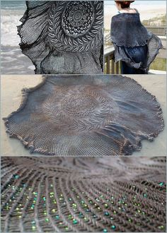 DIY Free Pattern Shipwreck Shawl. Reblogged from someone else earlier, but I always wanted to show the different angles of this amazing scar...