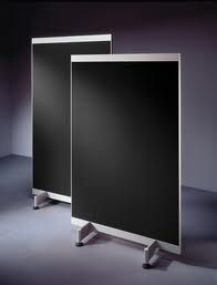 Rolling Chalkboard Room Divider - this would be great for visual people who need a place to jot quick notes and keep in sight.