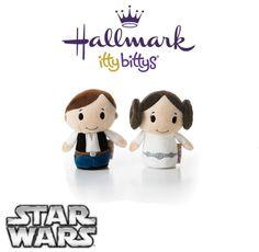 Hallmark ITTY BITTYS Disney Star Wars ●● HAN SOLO & PRINCESS LEIA ●● New On Card
