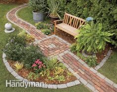 garden path ideas | Integrate a seating area into the pathway.