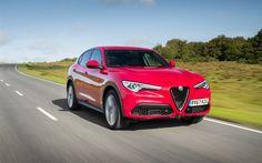 Télécharger fonds d'écran Alfa Romeo Stelvio, 2018, 4k, de nouvelles liaisons, de rouge Stelvio, l'italien de voitures, Alfa Romeo