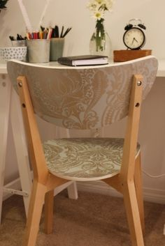 cover a chair w wallpaper by diane.smith