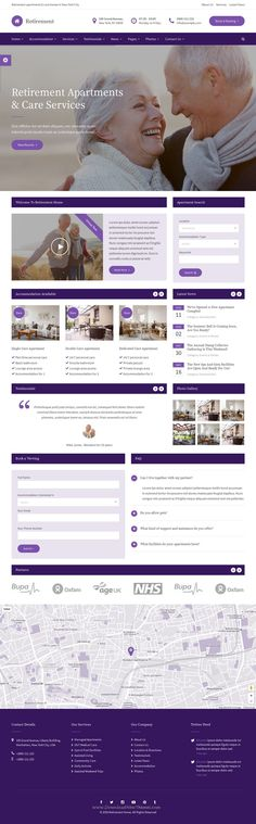 Retirement Care Home is a stylish HTML template designed specifically for #retirement care homes, senior citizen accommodation, #elderly #care services, medical and health services #website. Download Now!