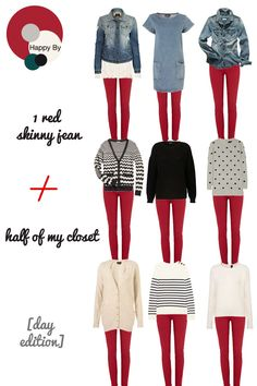 The grandma sweaters/shirts...not so much but the others are cute.Fall Outfits    Red jeans