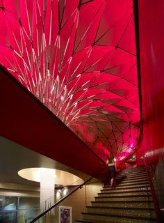 Yet another incredible staircase. I think this would go over my dining hall. And, this ceiling makes me want to fly a kite. Indoors.
