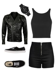"""""""Bad girl"""" by szabadoslalu0-0 ❤ liked on Polyvore featuring Love Moschino, Topshop, Vans, GUESS and VIPARO"""