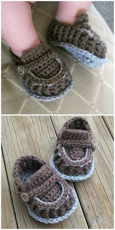You will love these super cute crochet baby loafers pattern ideas. We have something for everyone and some of the most popular patterns going. Crochet Baby Sandals, Knit Baby Booties, Crochet Toddler, Cute Crochet, Baby Slippers, Crochet Slippers, Crochet Blanket Patterns, Baby Patterns, Knitting Patterns