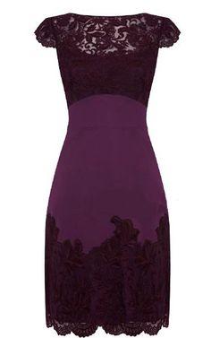 Фиолетовое платье с гипюром