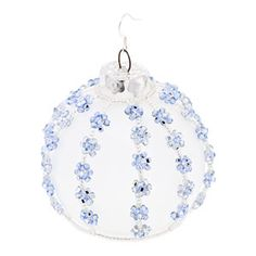 Snowy Skies Ornament | Fusion Beads Inspiration Gallery I don't usually like beaded ornaments...but this I like!