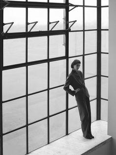 Hermès – Vestiaire d'Hiver 2012  Suit in cashmere flanel  Photo: Zoë Ghertner