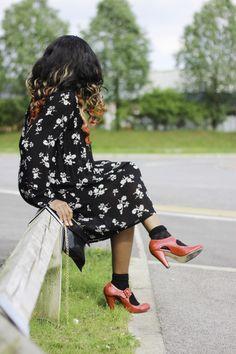 OOTD: Heels & Socks Trend