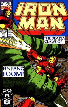 Iron Man vs Fing Fang Foom by Paul Ryan Marvel Comics Superheroes, Marvel Comic Books, Comic Books Art, Marvel Vs, Book Art, Comic Book Pages, Comic Book Covers, Vintage Comic Books, Vintage Comics
