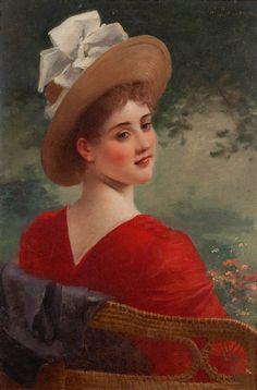 Jules-Frédéric Ballavoine (1855-1901) — Portrait of a Woman (526×800)