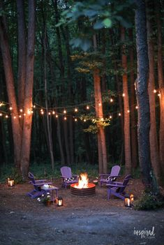 Color-inspired outdoor backyard fire pitIdeas for a color-inspired backyard fire pit makeover Firepit Backyard Decor Style Ideas 70 ideas for a simple outdoor DIY fire pit and a cozy seating areaAdorable 70 simple DIY outdoor Diy Fire Pit, Fire Pit Backyard, Backyard Pergola, Backyard Landscaping, Wooded Backyard Landscape, Outdoor Fire Pits, Backyard Seating, Back Yard Fire Pit, Fire Pit Landscaping Ideas