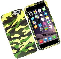 """myLife Yellow, Green, and Black {Classic Modern Battle Camo} 2 Piece Snap-On Rubberized Protective Faceplate Case for the NEW iPhone 6 (6G) 6th Generation Phone by Apple, 4.7"""" Screen Version """"All Ports Accessible"""" myLife Brand Products http://www.amazon.com/dp/B00U0AFWDK/ref=cm_sw_r_pi_dp_iQgfvb03DTT7N"""