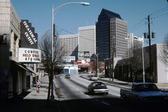 1988 view of Peachtree Street looking north from 10th Street.