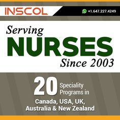 Since 2003, #INSCOL is the leading provider of post-registration #NursingPrograms in Canada, UK, USA, Australia and New Zealand !