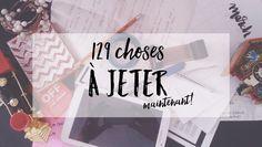 129 choses à jeter - Studio Rose Flash Organization Bullet Journal, Planner Organization, Storage Organization, Making Life Easier, Practical Gifts, Green Life, Diy Birthday, Home Hacks, Clean House