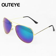 Brand Designer Retro Vintage Womens Mens Mirrored Aviator Sunglasses Oversized Holiday Sun Glasses Luxury Brand 2017 Design #CLICK! #clothing, #shoes, #jewelry, #women, #men, #hats, #watches