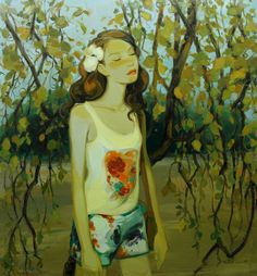 "Saatchi Online Artist: Liu Chenyang; Oil, 2012, Painting ""yesterday once more"""