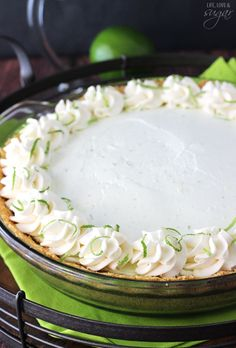 No Bake Margarita Pie - such awesome lime flavor with a hint of tequila!