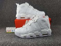 huge selection of 52584 6ed6d Factory Authentic NIKE AIR MORE UPTEMPO TRIPLE WHITE White White White  921948-100 Lebron 15