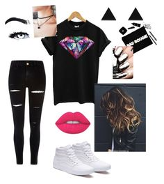 """Daringly dark unicorn"" by shareen-akmal on Polyvore featuring River Island, Vans, GURU and Wolf & Moon"