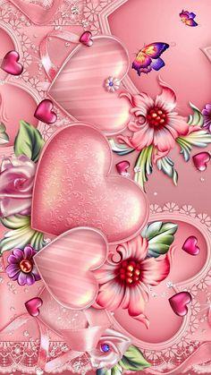 Pin by Myrela Soares on Anna Frozen.., Bow.., Hearts..., Love.., Magical.., Glitters.., Dream.., Chanel... Wallpaper | Heart iphone wallpaper, Heart wallpaper, Flower wallpaper