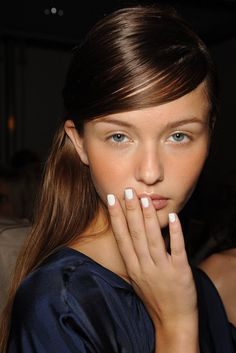 White nails at Band of Outsiders Spring 2014 - the Coolest Nail Looks at New York Fashion Week
