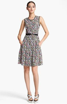 WU WU!  Jason Wu Belted Print Silk Dress available at #Nordstrom