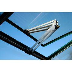 Solid og vannbestandig vindusåpner. Passer til drivhus 716-025 og 716-013. Maks. åpningsavstand: 30 cm.