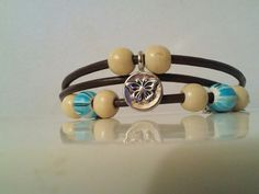 Triple Wrap Leather Cord Bracelet with single clasp by SimplyYue, $10.00
