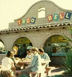 Old school Taco Bell (it ecen had a firepit)