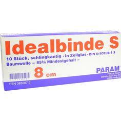 IDEALBINDE 8 cm m.Schlingkante m.Cell:   Packungsinhalt: 10 St Binden PZN: 03855073 Hersteller: Param GmbH Preis: 39,07 EUR inkl. 19 %…