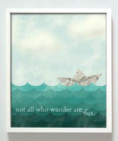 Always love being reminded of this Tolkien quote and this image makes me smile :: Wander Print by Gus & Lula