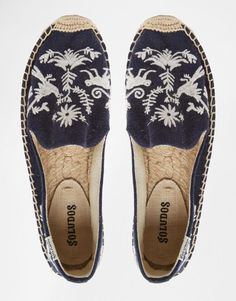 Soludos | Soludos Embroidered Espadrille Flat Shoes at ASOS