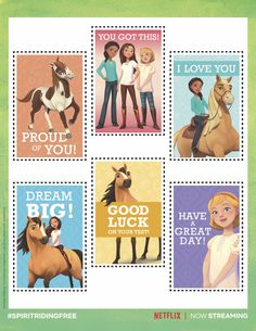 Personalize back-to-school lunches with these cute notes to encourage and inspire your little ponies! Caballo Spirit, Claire's Makeup, Cute Notes, Proud Of You, 7th Birthday, Little Pony, Dreamworks, Dream Big, Back To School