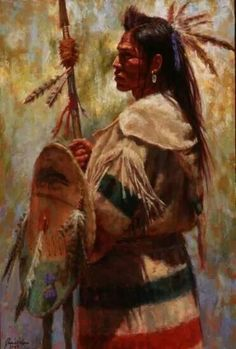 Blackfoot warrior, artist and date unknown. [Perhaps James Ayers? JE]