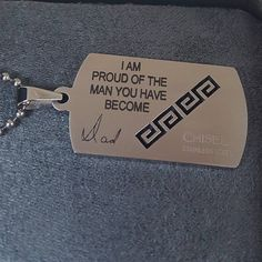 Real Handwriting Signature on Dog Tag Necklace | Appleton Trophy